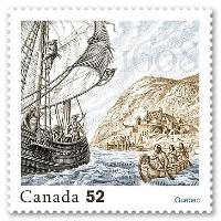 Founding of Quebec Stamp